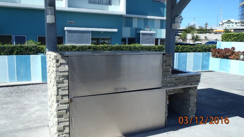 stainless steel barbecue units all clean and well maintained for your use