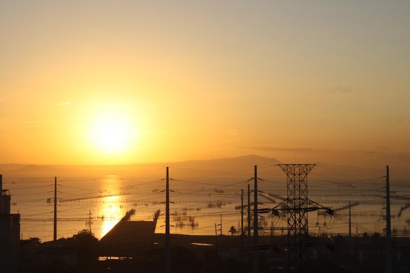 Sunrise at Laguna de Bay spectacular