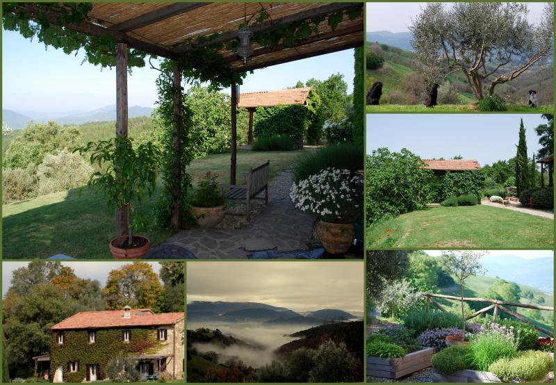 Fully independent apartment for TWO in farmhouse, alquiler vacacional en Montelovesco