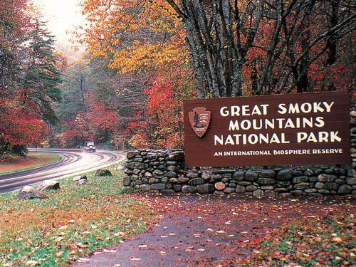 parque de la montaña de Smokey con millas y millas de senderos