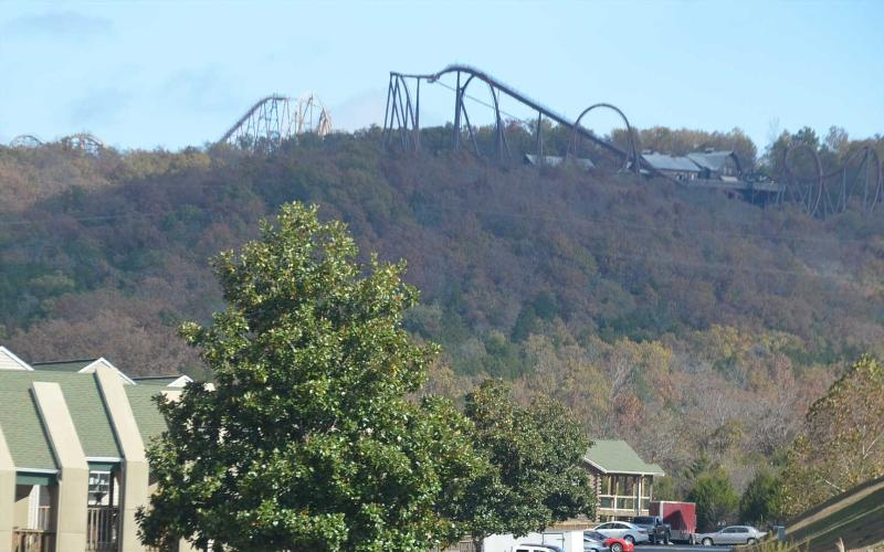 The condos are literally right next door to Silver Dollar City! Best location!