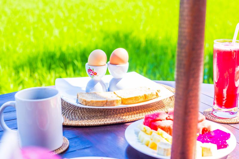 Villa Sungai delicious breakfasts made to order each morning