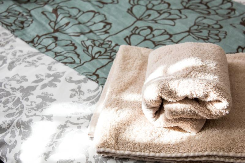 Decorative detail of towels