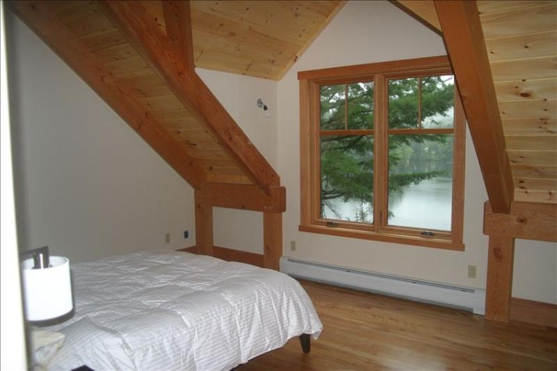 Bedroom overlooks lake