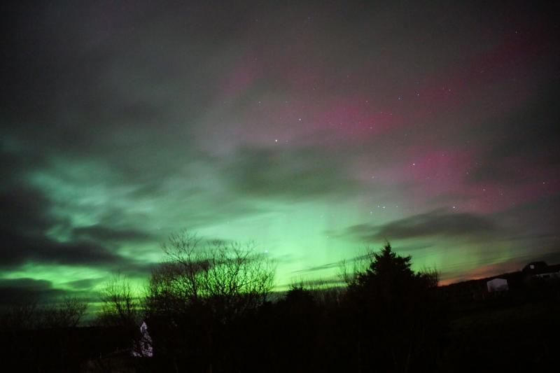 Aurora borealis from the Cottage deck