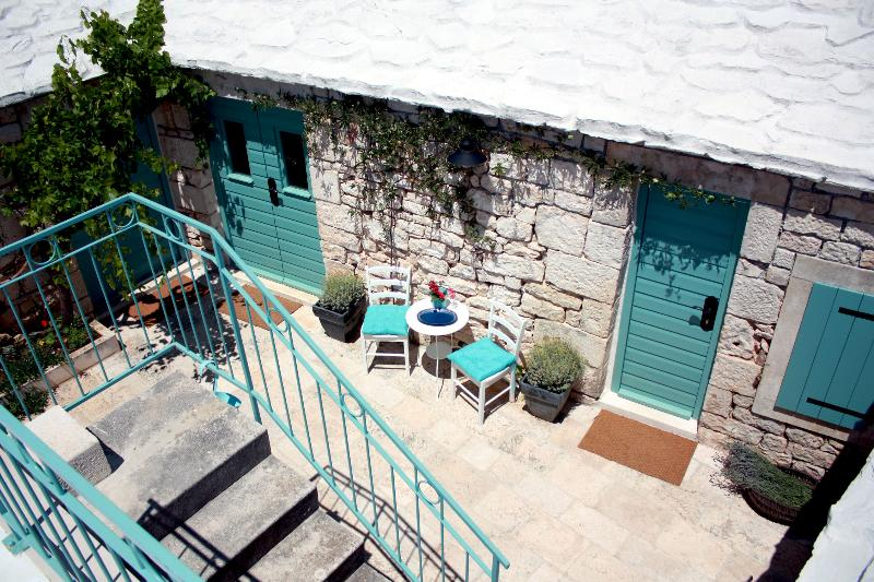 Patio with room entrance