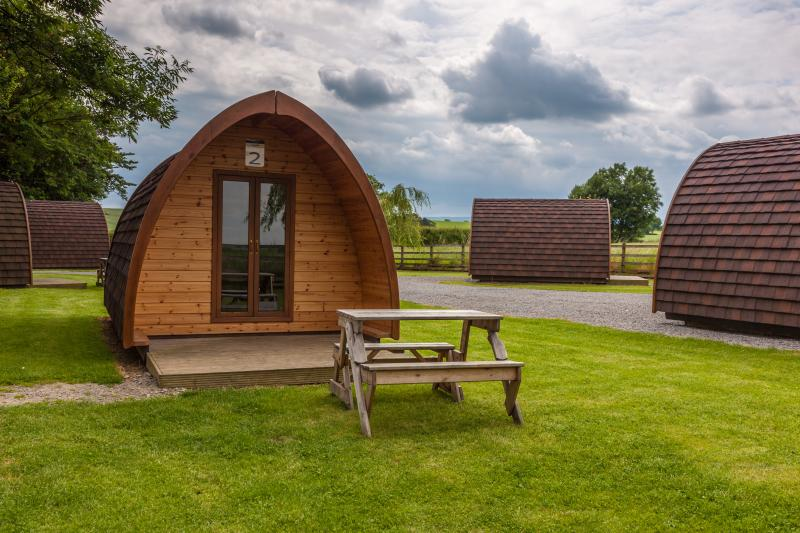 Family Camping Pod (sleeps 2 adults and 3 children).