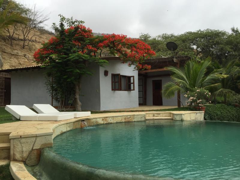 Pool on a rainy day