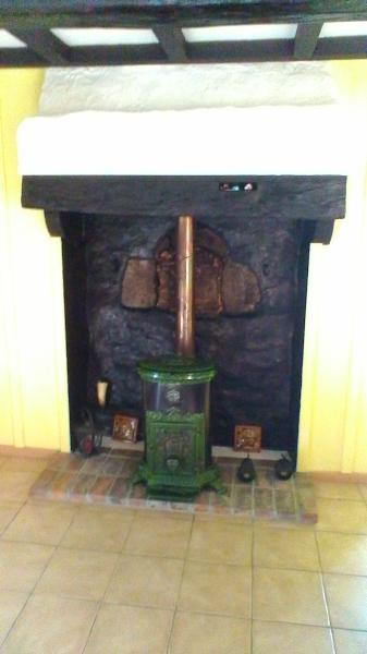 Woodburner in the kitchen