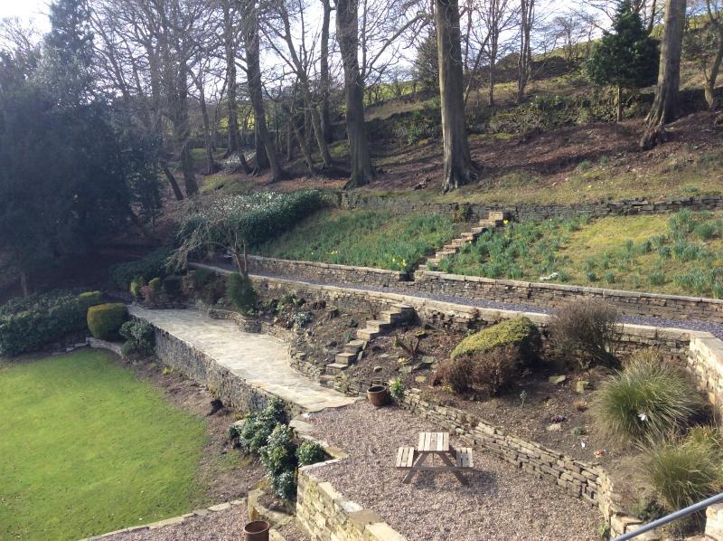 The gardens to enjoy.