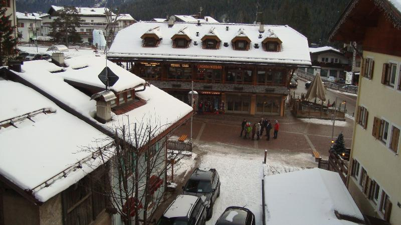 THE SMALL SQUARE OF CANAZEI (VIEW FROM THE LIVING ROOM)