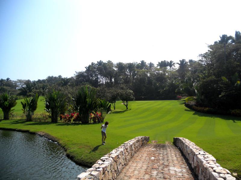 Las Huertas Golf Course just across the street