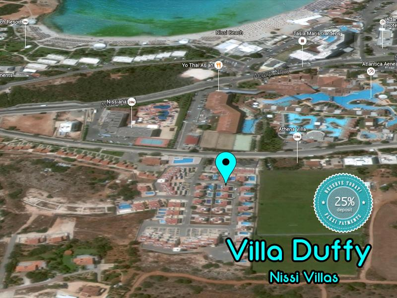 Close to famous Nissi Beach and all the major hotels in the Ayia Napa region