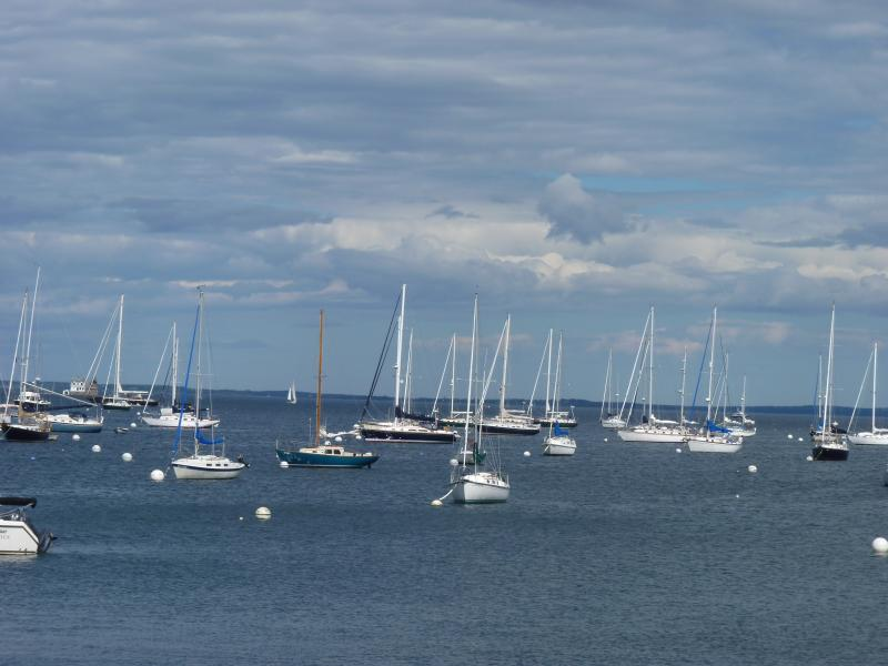 View of picturesque Rockland Harbor.