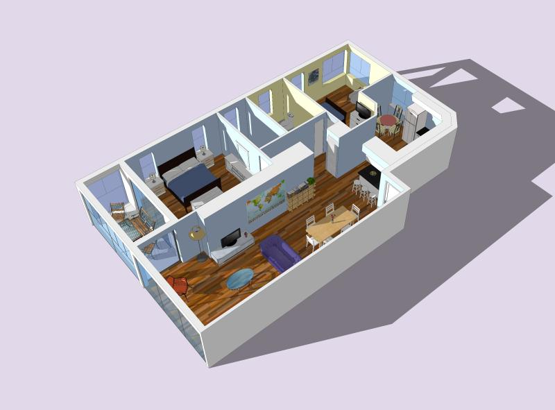 Layout for our 1331 sqft condo #2.