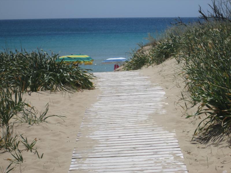 accesso alla spiaggia dalle dune