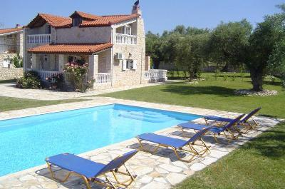 Villa Kathleen set in the heart of lush Greek countryside & olivegroves with private swimming pool.