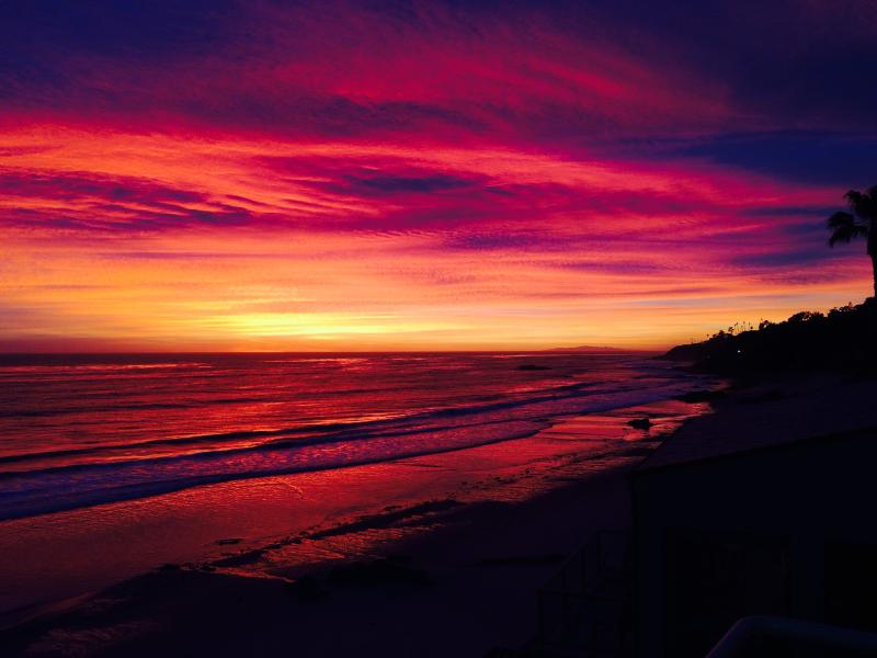 Photo of a sunset in December, kindly submitted by a guest