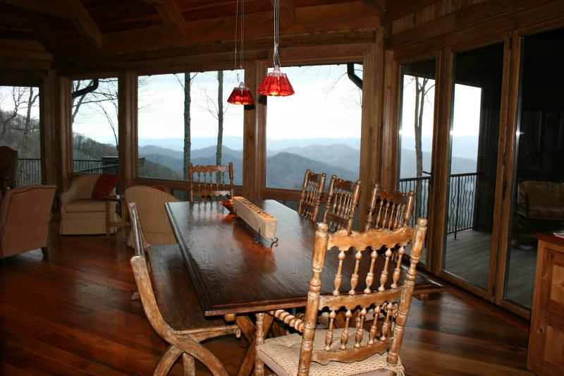 Dining Room Table with Great Views