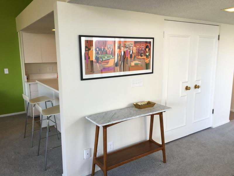 Entry way and artwork