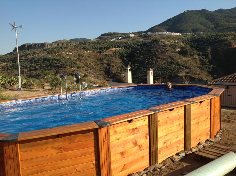Our new 7 metre pool offers an ideal place to cool off.