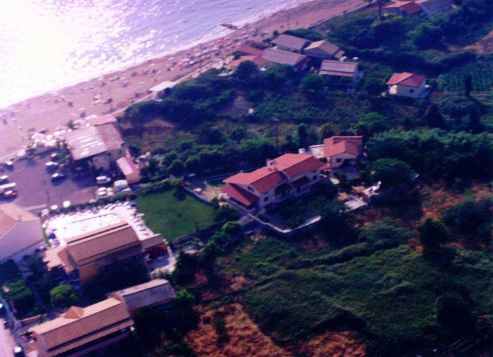 Aerial photo of La Corfiota and the beach