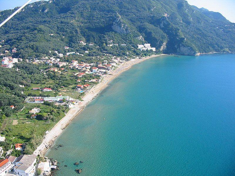 Aerial picture of Agios Gordios Beach