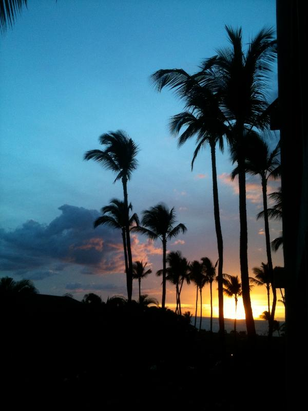 Sunset from the lanai