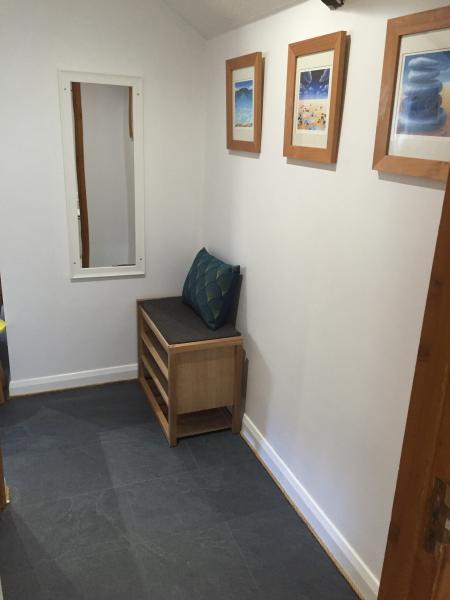 Upstairs hallway...