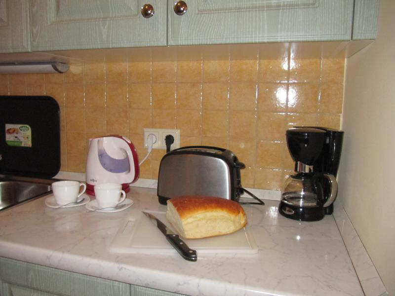 Fresh bread and coffee