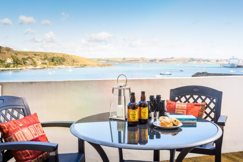 The views across the bay to sea are sensational!