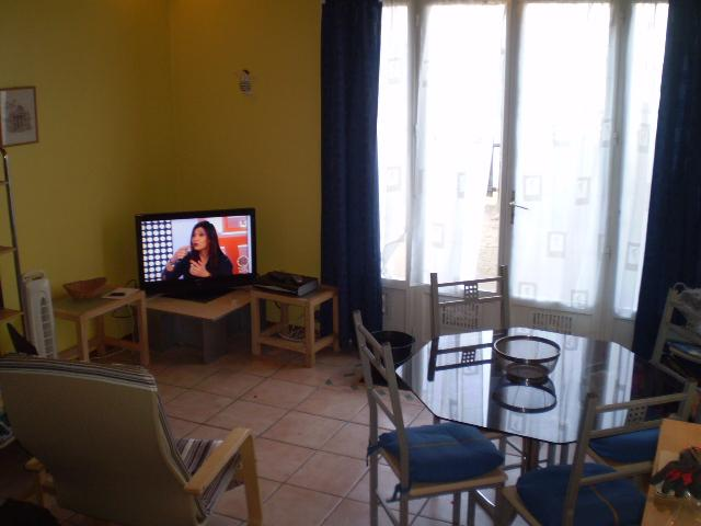 Television and dining area