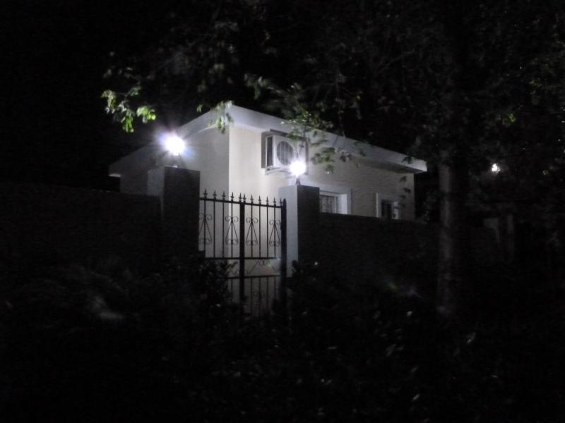 La Casita at night