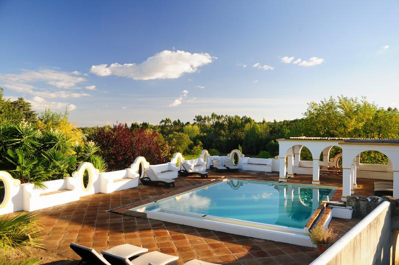Our gorgeous pool surrounded by orchards and vineyards