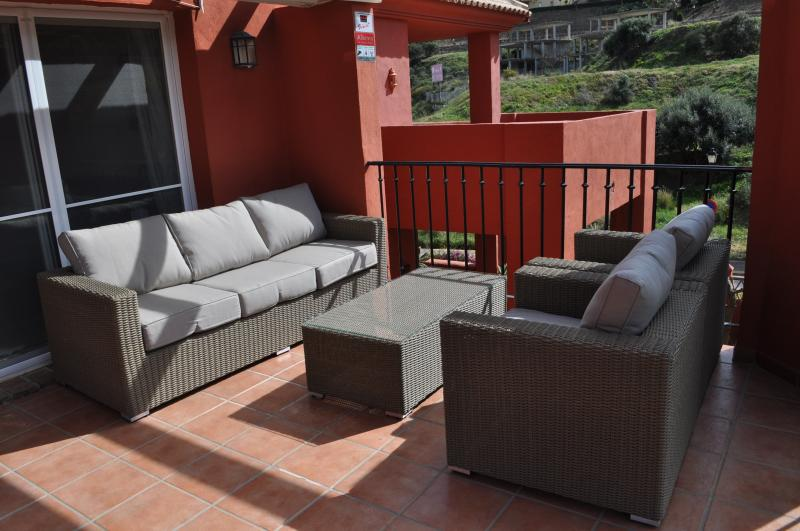 Casual seating on the terrace