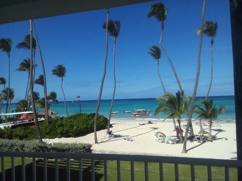 beautiful beach with bar facilities and sun loungers