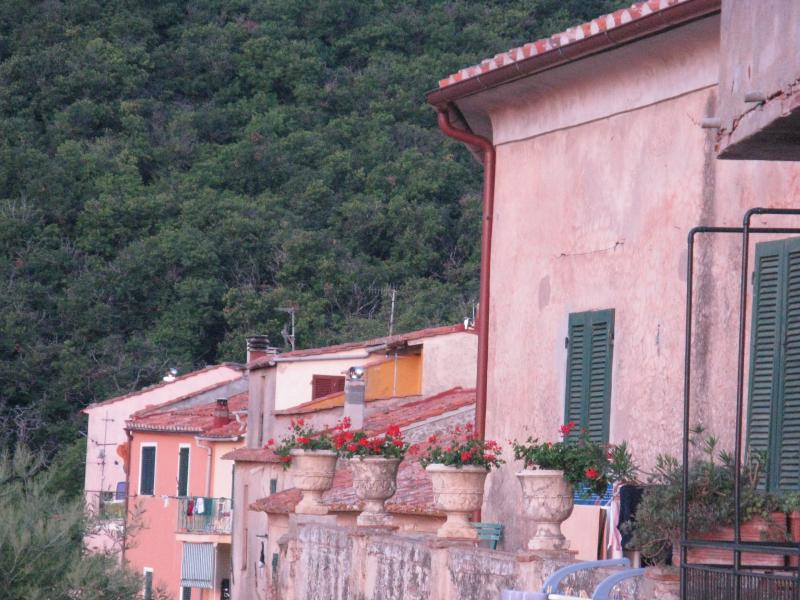 Vista sul borgo dalla terrazza