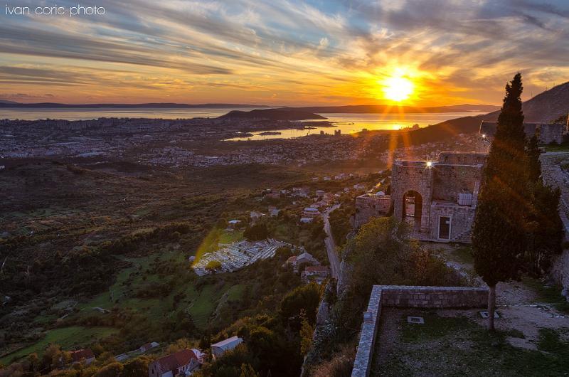 Sunset on Klis fortress