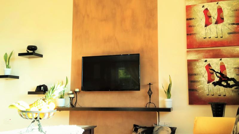 Renovated Living Room With New 2016 Flat Screen LED TV 43'