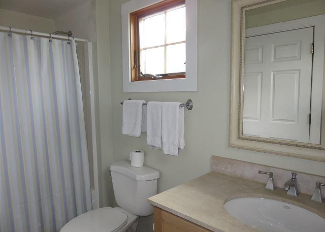 Private bath for second floor queen.