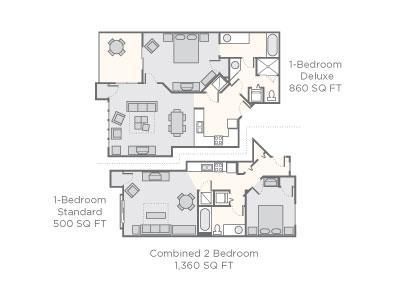 floorplan of  combined unit