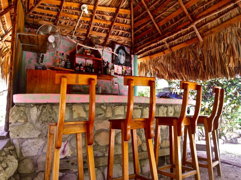 Sit at the bar and chat it up with all the guests staying at Coral Cottage Jamaica!