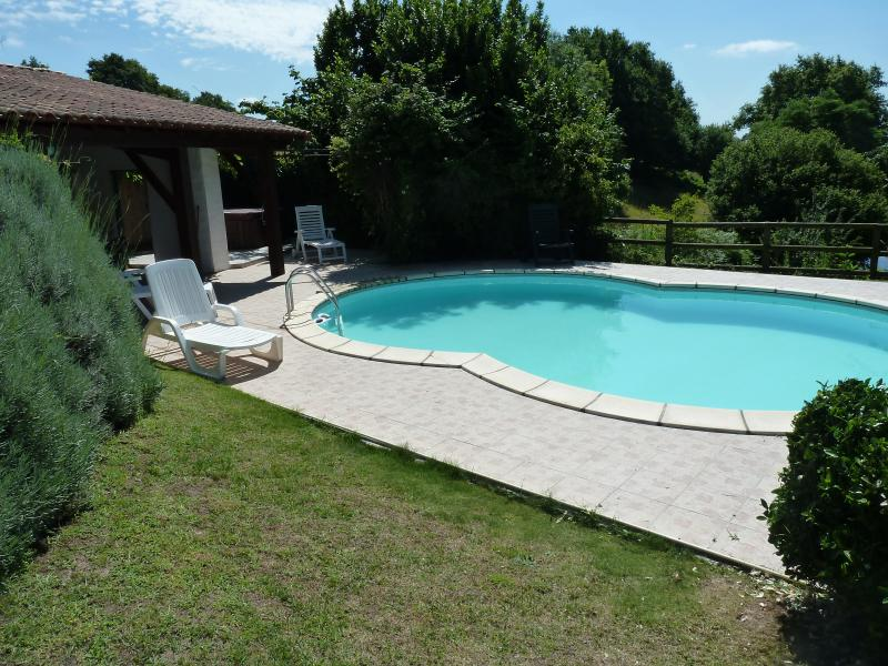 Le Gite a traditional stone house with pool and hot tub, holiday rental in Saint-Aubin-le-Cloud