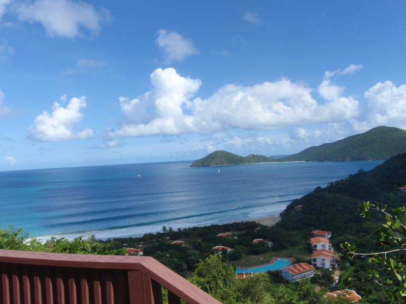 View of Lambert Beach with Guana Island in background