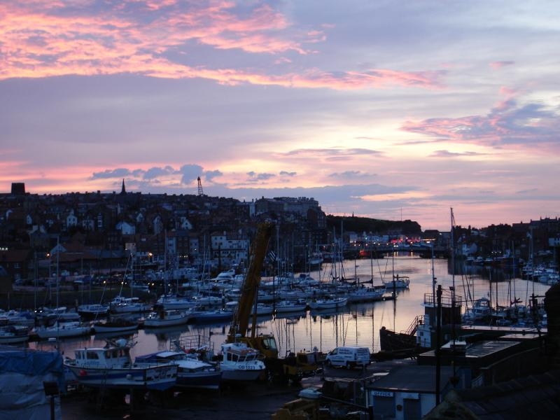 TWILIGHT FROM THE WINDOW OVER WHITBY