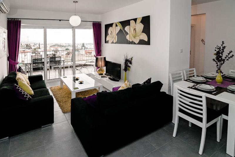 Large open plan apartment with views as you walk through door........