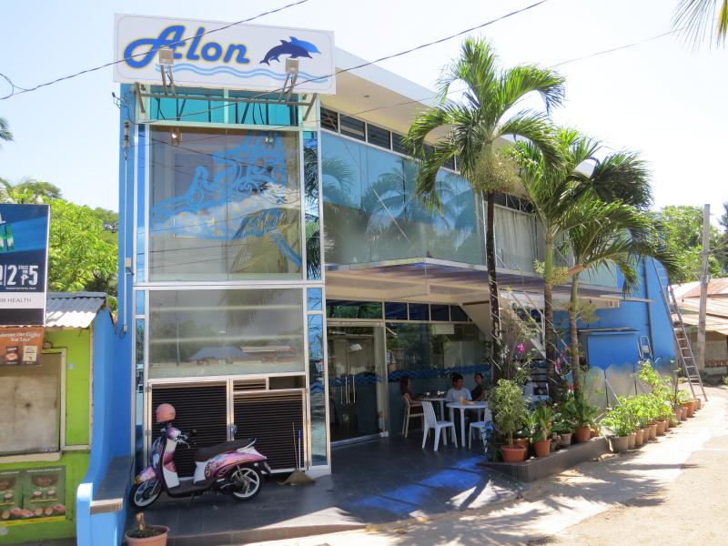 Alon Travelers Lodge by the sea at the Baywalk Puerto Princesa Palawan Philippines