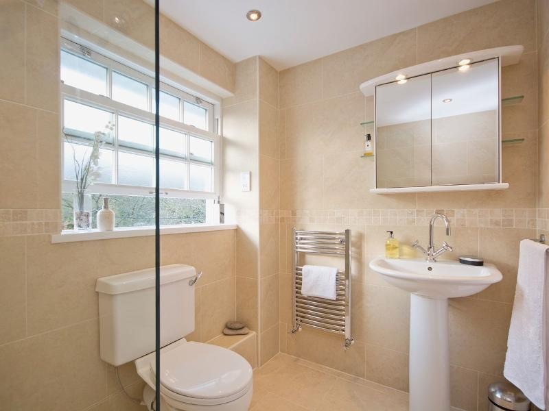 Main bathroom with large walk in power shower