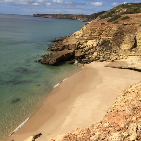 Secluded beach in the national park close to the villa.