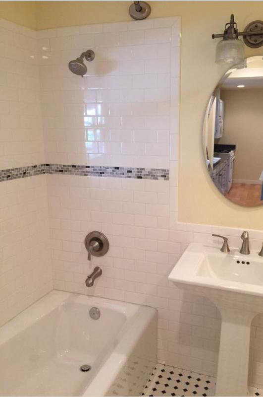 Recently renovated full bathroom.